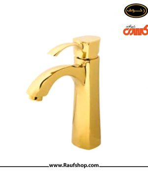 شیر روشویی مدل فلورا طلایی مارک کسری