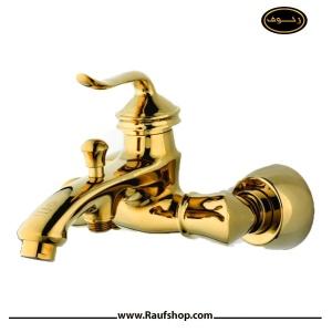 شیرالات تپس مدل شیر حمام لئوس طلایی
