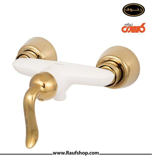 قیمت شیرآلات کسری مدل توالت رابین سفید طلایی خرید نمایندگی