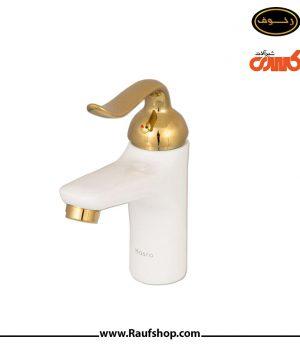قیمت خرید مدل روشویی رابین سفید طلایی شیرآلات کسری