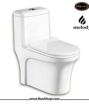 قیمت خرید توالت فرنگی ملودی مدل 403 یک تکه سایفونیک مارک ملودی