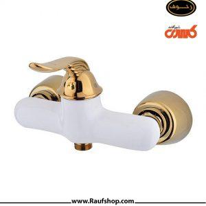 شیر توالت رایان سفید طلایی
