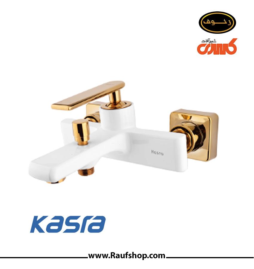 شیر دوش حمام مدل آمازون رنگ شیری طلایی