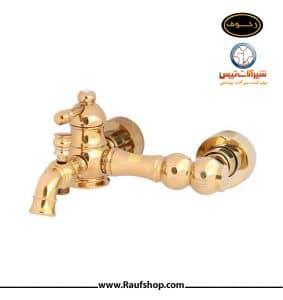 شیر دوش حمام تپس مدل الماس طلایی