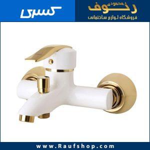 عکس شیر دوش حمام شیرآلات کسری مدل الوند سفید طلایی