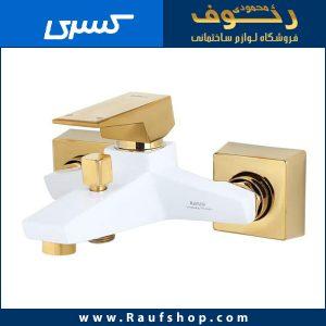 قیمت شیر دوش حمام کنکورد سفید طلایی در فروشگاه محمودی رئوف