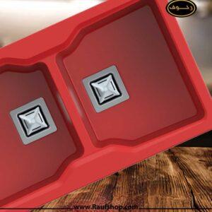 خرید سینک گرانیتی رنگ قرمز مدل سلین از فروشگاه محمودی رئوف
